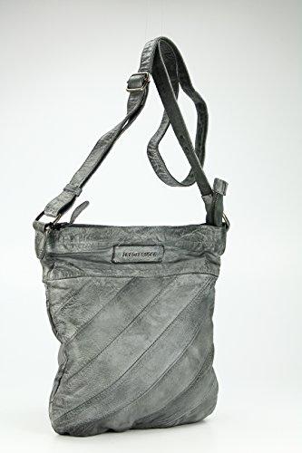 FREDsBRUDER Fun Stripe Umhängetasche 30 cm Grey (Grau)