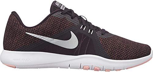 Nike Flex Trainer 8 Damen Running Trainers 924339 Sneakers Schuhe (UK 6.5 US 9 EU 40.5, Burgundy ash metallic Silver 601)