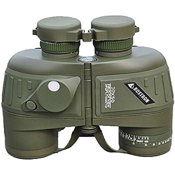 Lixada étanche antichoc télescope binoculaire sportif Optique militaire Spotting Scope avec Compass pour la chasse Camping Randonnée voyage Concert 10X50 396FT/1000YDS