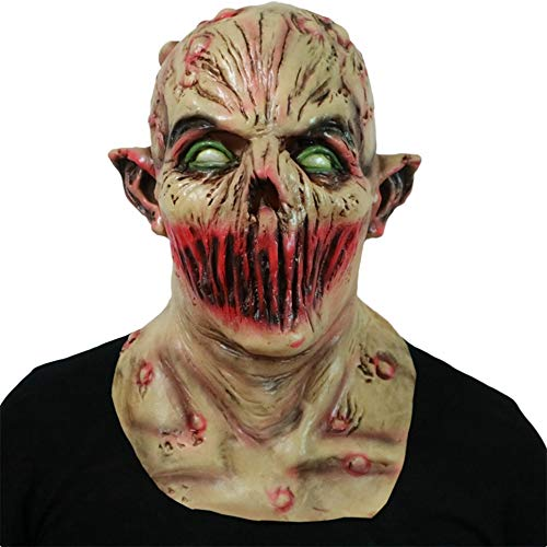 Circlefly Halloween Haunted House Horror Requisiten mutierten Dämon-Schädel Maske Walking Dead Körper Kopf Vampir Zombie Perücke