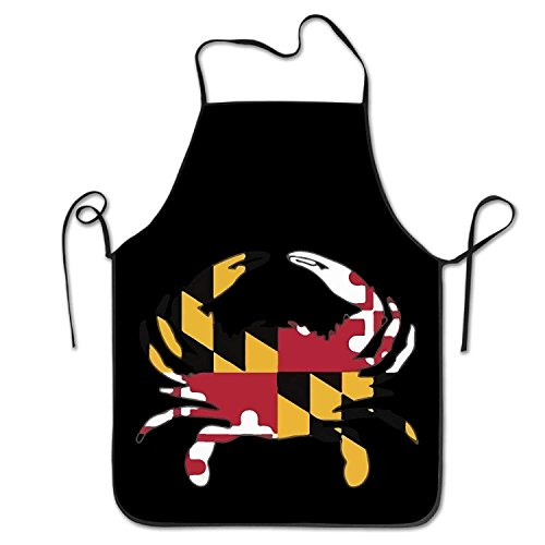 Maryland Grill Pad (Pads bag Funny Maryland Flag Crab Kitchen Aprons for Women Men)