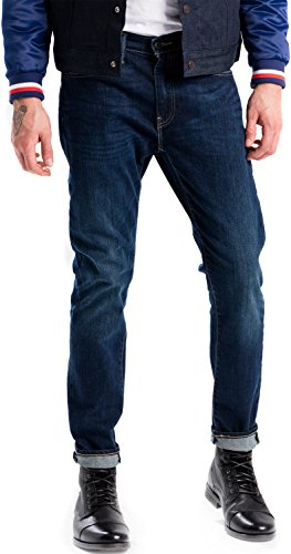 Levis Herren Jeans 512 Slim Taper FIT 28833-0227 Dunkelblau, Hosengröße:33/34