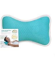 CoastaCloud Badewannenkissen mit 2 Saugnäpfen Nackenkissen aus Polyester Schnelles Trocknen Einfache Reinigung - Komfort Badekissen,Blau