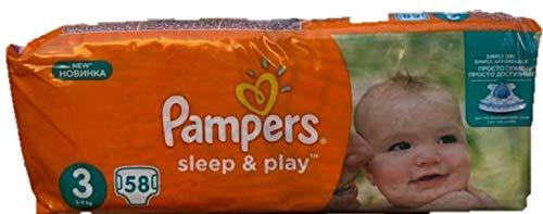 58 Pampers Windeln Play und Sleep, Gr. 3, 5-9 KG