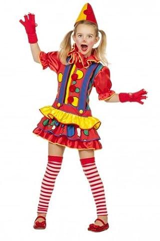 Mädchen Clown Kostüm-140