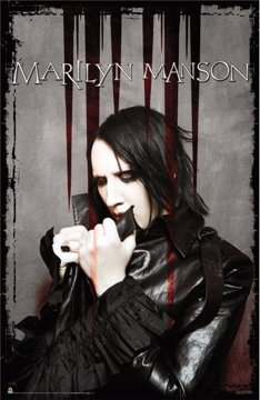 Marilyn Manson Poster – Bloody Pose – Rare New 24 x 36