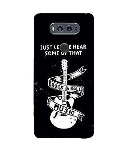 Guitar Rock and Roll 3D Hard Polycarbonate Designer Back Case Cover for LG v20