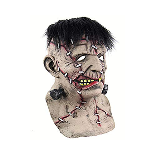 Emorias 1 Pcs Masken Halloween Skelett Latex Kautschuk Horror Kopf Human Party Maske Un Tamaño Frankenstein