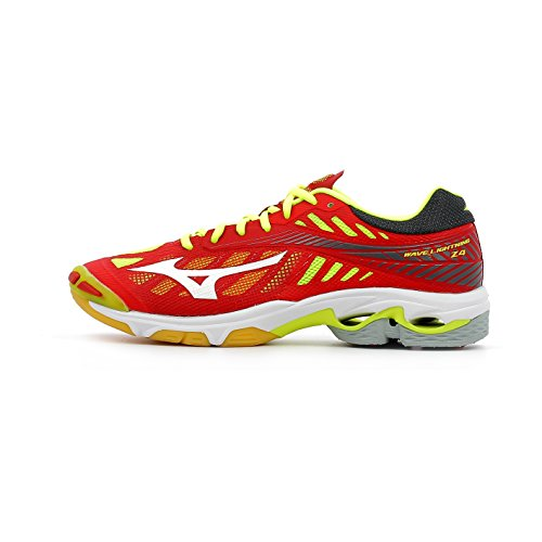 Mizuno Wave Lightning Z4, Chaussures de Running Homme Mars Red / White / Safety Yellow