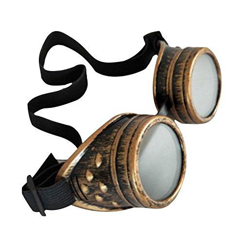 Männer Victorian Kostüm - iBàste Steampunk-Retro-Brillenkleidung mit Reitschutz-Okularen Retro Vintage Victorian Steampunk Reitbrille Brille Schutz Okulare Schweißen Cyber Punk Gothic Cosplay