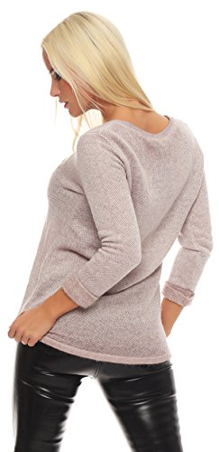 fb3a44a5d66549 ... IKONA21 - Fashion Italy Damen Shirt Pulli Pullover Sweatshirt Tunika  Longshirt Onesize S M L XL 36 38 ...