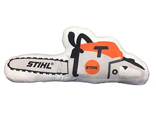 Preisvergleich Produktbild Stihl Kissen in Motorsägeform aus weichem Plüschmaterial Länge ca. 50 cm