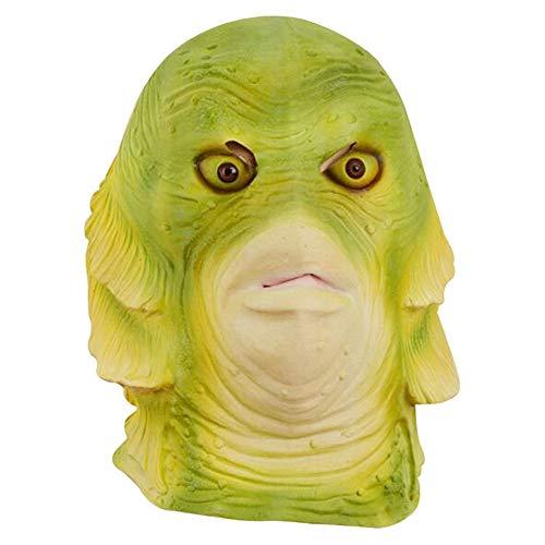 Fisch Kostüm Kopf - SAILORMJY Maske Halloween, Halloween Cosplay Kostüm Maske Lustige Requisiten Latex Maske Karneval Party Karneval Fisch Kopf Maske