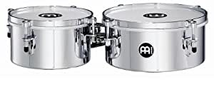 Meinl Percussion MIT810CH Drummer Timbale / Mini Timbale, 20,32 cm (8 Zoll) und 25,40 cm (10 Zoll) Durchmesser, chrom