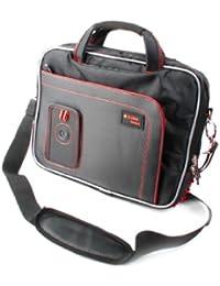 DURAGADGET Maletín Con Diseño Ergonómico Para Tablet Acer One 10 (S1003-199D / Asus Transformer Book T101HA-GR003T , T101HA-GR043T / Medion Lifetab X10311 / TrekStor breeze 10.1 quad plus 3G , Primetab P10 WiFi - En Color Negro Y Rojo