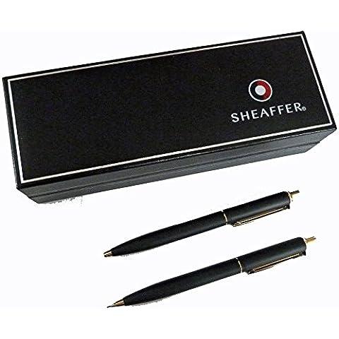 Sheaffer–Set penna a sfera e portamine in oro e nero opaco (e932751)
