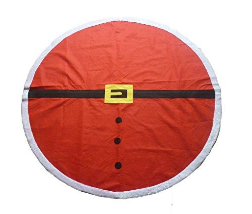 Go Further Weihnachten Runde Rot Santa Claus Anzug Tischdecke mit weißen Plüsch Ränder