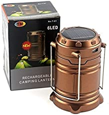Premium Quality 6 LED Solar Power Camping Lantern Light Rechargable Collapsible Night Light Outdoor Super Bright Hiking Flashlight by Kids Mandi