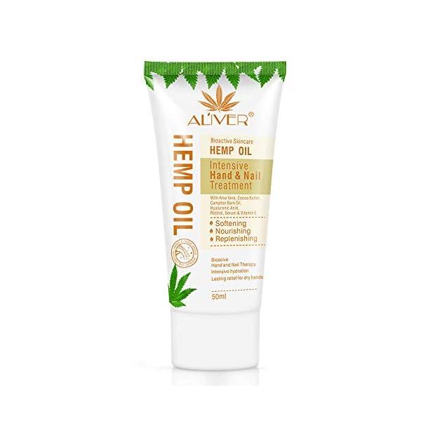 Crema Hidratante para Manos con Aceite de cañamo Orgánico Loción Hidratante y Suavizante para Manos Cuidado Hidratante…