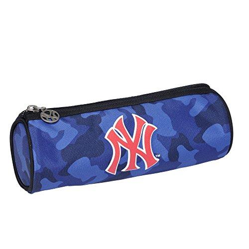 major-league-baseball-poche-supplementaire-trousse-ronde-bleu
