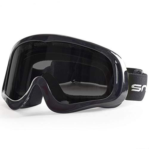 Snowledge Motocross Brille, MX Brille Herren, Sportsonnenbrille UV400 Crossbrille Downhill Brille Winddicht Staubdicht Kratzfest Helmkompatible