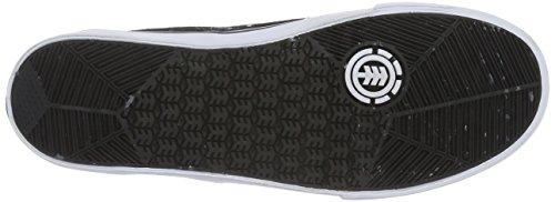Elemento Herren Topaz C3 Sneaker Schwarz (4070 Blk Bianco Pelle Scamosciata)
