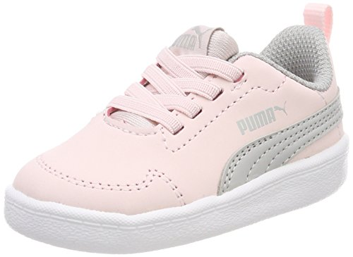 Puma Unisex-Kinder Courtflex Inf Sneaker, Pink (Pearl-Gray Violet), 26 EU (Mädchen Schuhe 12 Puma)