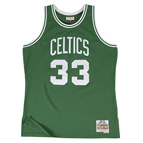 Mitchell&Ness M&N NBA Swingman Jersy Retro Trikot mit 7kmh Aufkleber Boston Celtics - Larry Bird XXL