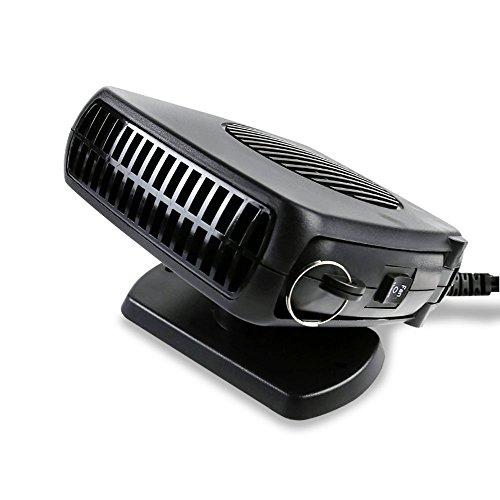 Calefactor y ventilador Nuzamas de 12V CC para parabrisas delantero de coche, 150 W, elimina el vaho del parabrisas en invierno