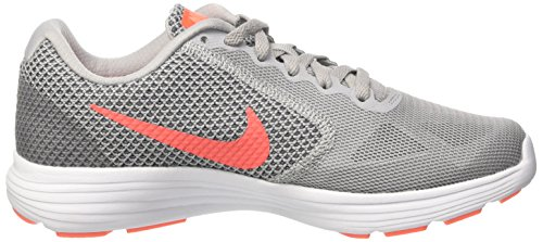 Nike 819302-002, Sneakers trail-running femme Gris (Wlf Gry/hypr Orng-cl Gry-atmc)