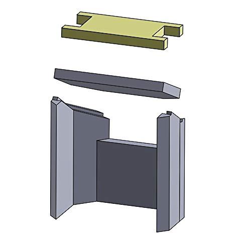 Flamado Heizgasumlenkplatte Oben 360x165x30mm (Schamotte)