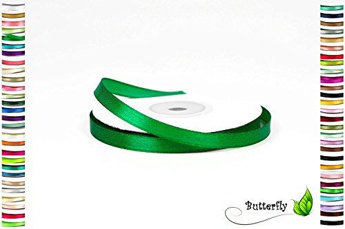 25m Rolle Satinband 6mm ( grün 580 ) Schleifenband Deko Band Dekoband Geschenkband Dekoration Hochzeit Taufe