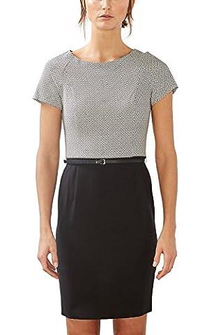 ESPRIT Collection Damen Etui Kleid 997EO1E800, Knielang, Gr. 42, Schwarz (BLACK 001)