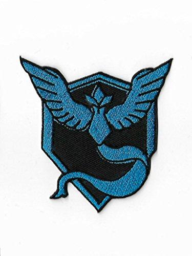 Pokemon Go Team Mystic Patch (7,6cm) Aufbügeln oder nähen auf Badge Aufnäher Souvenir DIY Kostüm Team Instinct Mystic (Diy Pikachu Kostüm)