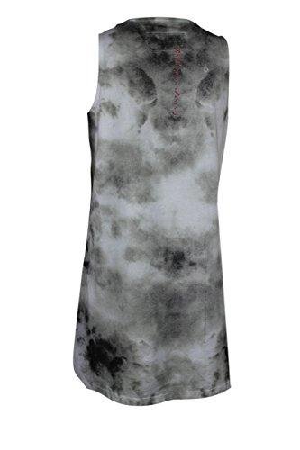trueprodigy Casual Femme Debardeur imprimé, vetements cool marque col rond (manche courte & slim fit classic), shirt mode Couleur: noir 1072511-2999 Black