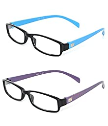 02e1d976c7 Combo Of 2 Full Rim Rectangular Unisex Spectacle Frame(Tg4113