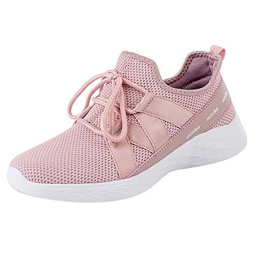 KERULA Women Fashion Casual Shoes, Frauen Freizeit Atmungsaktives Mesh Outdoor Fitness Laufsport Turnschuhe Schuhe Sport Low Top Sportschuhe Damenschuhe und Laufschuhe Elastische Sneakers -