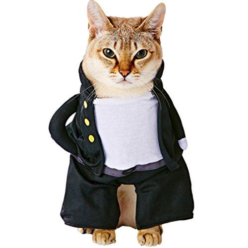 sourcingmap® Petio autorisiert Haustier Frau Schuluniform Stil Katze Kleidung/schwarz & weiß