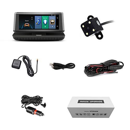 8-Zoll-Noten-Auto-Auto DVR 4G Android WiFi GPS-Videogerät-Doppelobjektiv HD Schlag-Nocken-Unterstützungs-Mikro-SIM TF Karte