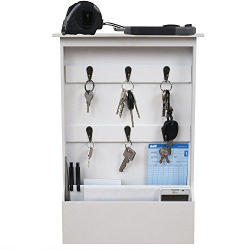 praktischer-wandorganizer-mit-schlusselbrett-und-2-holztaschen-6-metallhaken-holz-flur-diele-dekorat