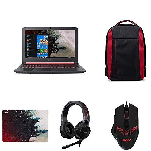Acer Nitro 5 AN515-52-71TV Notebook con Processore Intel Core i7-8750H + Zaino + Mouse + Headset + Mousepad