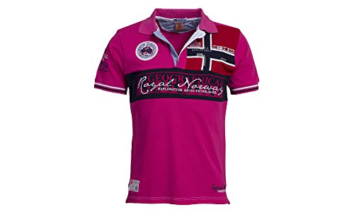 Original-Geographical-Norway-Poloshirt-fr-Mnner--Modell-Kyer-Herren-Stylisches-casual-kurzarm-Polo-Shirt-fr-Freizeit-Sport-T-Shirt-M-Pink
