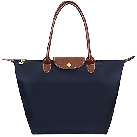 Cabas pour Femme Moyen – ZWOOS Pochette sac à Main Sac de Shopping pour Femme (L, Bleu Marine)