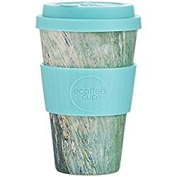 Ecoffee Cup Marmo Verde Multicolor, Turquesa Café 1pieza(s) tazón - Taza/Vaso (Solo, 0,4 L, Multicolor, Turquesa, Fibra de bambú, Café, 1 Pieza(s))