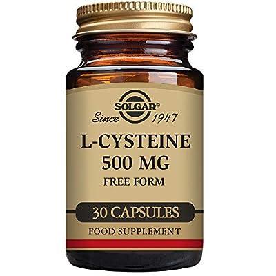 Solgar 500 mg L-Cysteine Vegetable Capsules - Pack of 30