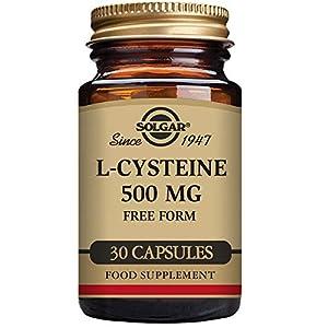 41s4qpIN%2BeL. SS300  - Solgar L-Cysteine 500 mg Vegetable Capsules - Pack of 30