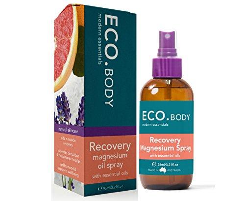 ECO. Modern essentials Natürliche Erholung Magnesium Post Workout-Spray, Lindert Muskel Belastungen Aus Übung, Enthält Schwarzer Pfefferöl, Pink Grapefruit Öl, Thymianöl