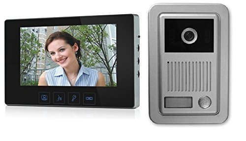 Video Intercom 4-Wire Intercom with 7 Inch Monitor and Camera Bell