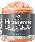 Art Naturals Himalaya Salz Peeling/Scrub 566 g, Tiefenreinigendes Körper Peeling | mit Karite-/Sheabutter & Jojoba-Öl | Pflegende Exfoliation für Strahlende Haut | Feuchtigkeitsspendend