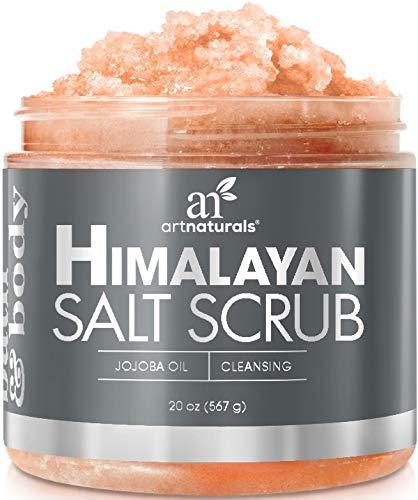 Art Naturals Himalaya Salz Peeling/Scrub 566 g, Tiefenreinigendes Körper Peeling | mit Karite-/Sheabutter & Jojoba-Öl | Pflegende Exfoliation für Strahlende Haut | Feuchtigkeitsspendend -